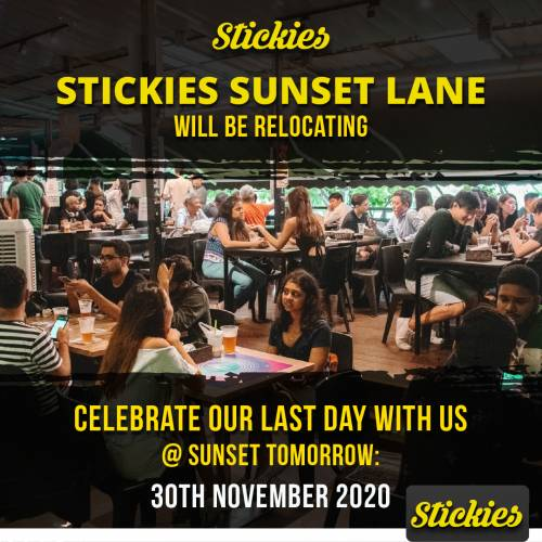 Stickies Sunset Lane Relocation